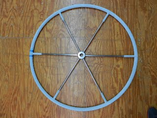 Leather wheel cover